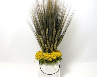 French Country Wheat Sheaf,  Wheat Arrangement, Floral Arrangement