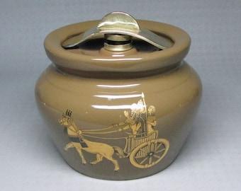 pottery humidor Lancaster and Sandland Hanley England Staffordshire egyptian
