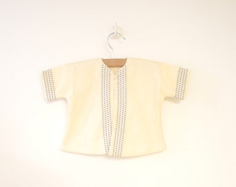 Vintage Baby Clothes, 1940's I. Magnin Cream Wool Baby Crib Coat and Bonnet Set, Vintage Baby Coat, Cream Baby Coat, Size 6-9 Months