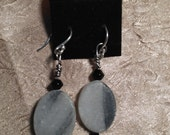 Shades of Gray: Handmade Earrings Featuring Stone Beads