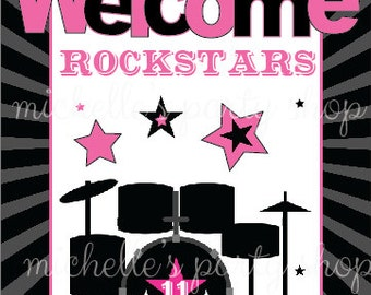 NEW - Rockstar Table Sign, size 5x7