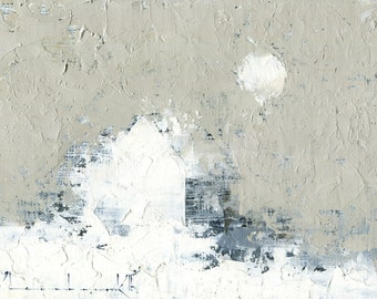 Winter White — Original Oil Painting, Landscape Painting, Abstract Landscape, Original Painting, Abstract Oil Painting, Fine Art, 5 x 7