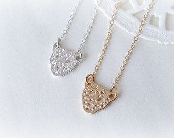 Silver or Gold Petite Leopard Necklace