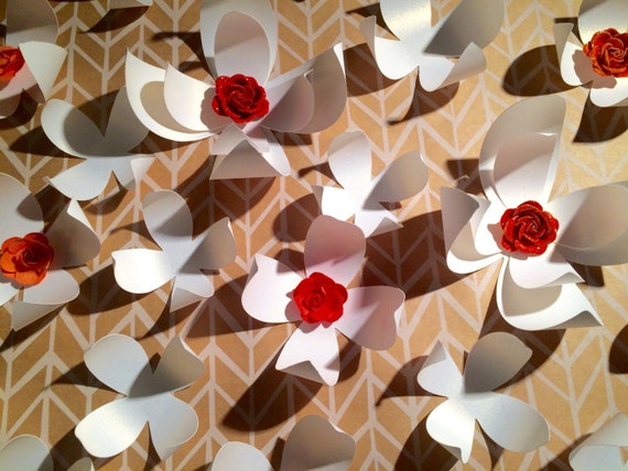items similar to 3d wall flowers