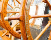 Nautical Photography, USCGC Eagle Prints, Sailing Art, Barque Sailing Vessel Art, Nautical Prints, Gold Wall Art, At the Helm