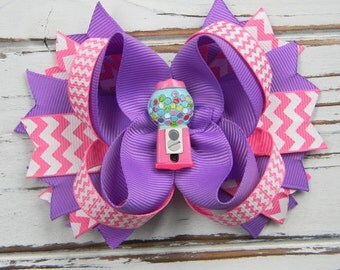 Girls Boutique Hair Bow- Gumball Machine Bow