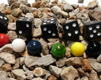 Aggravation Marbles, Dice & Game Bag