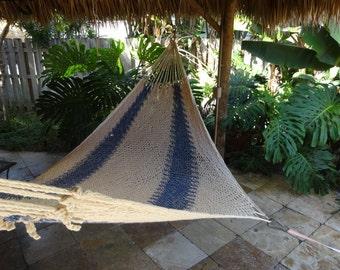 Hammocks! Adult sized cotton hand woven hammock from Guatemala.  Mayan made banana hammocks 12