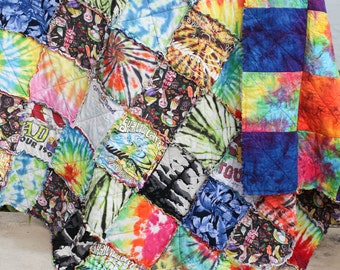 Custom MEMORY Twin/Single Sized Rag Quilt