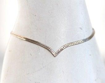 Elegant Chevron - Sterling Silver Vintage Bracelet