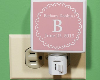 Baby's Initial and Name Night Light -gfyU958411