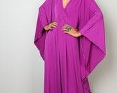 Kaftan Dress - Dark Magenta Maxi Dress - Kimono Butterfly Dress: Funky Elegant Collection No.1s