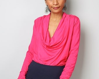 Hot Pink Top / Trendy Blouse Tunic / Pink sweater : Urban Chic Collection No.23