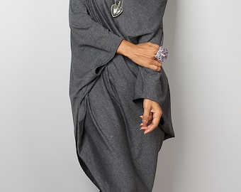 Grey Sweater Dress / Top grey Batwing Tunic / Top Dress : Urban Chic Collection no.8