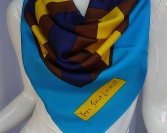 YSL Yves Saint Laurent Vintage Silk Scarf