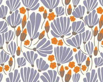 Morning Song - Breezy Floral Blue by Elizabeth Olwen from Cloud 9 Fabrics