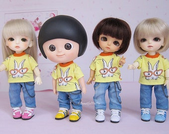 Lati yellow/mui chan : Yellow Rabbit & Denim Jeans