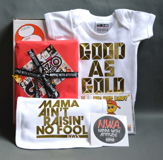 Baby Gift Gold : Gold baby gift box good as onesie mama by