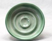 Soap Dish Transluscent Green Soap Dish Ceramic Pottery Soap Dish Round Soap dish
