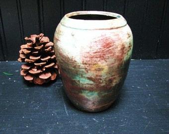 Vintage 1960's Beautiful Earthen Art Pottery Vase Potter in Lake Tahoe