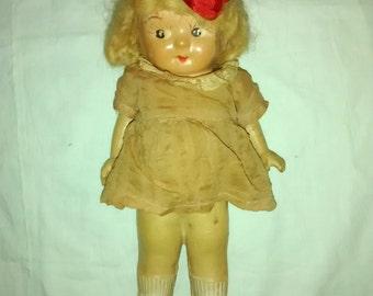 Antique Kewpie , Carnival Doll , 1930's Googly Eyes