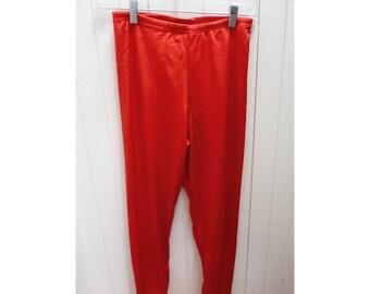 Vintage 1980s Red Stretch Pants/Leggings - M