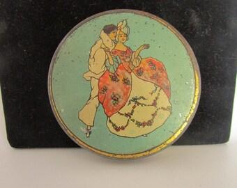 Vintage  La-May Face Powder Metal Compact, 1920's Powder Compact, Vintage  Compact, Vintage Advertisement, Vintage Memorabilia