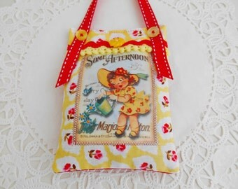 Retro Inspired Summery Lavender Sachet/Home Decor