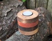Candle Holder, Multi Layer, Wood, Round
