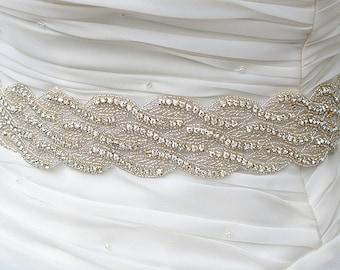 SALE  Wedding Belt, Bridal Belt, Sash Belt, Crystal Rhinestones