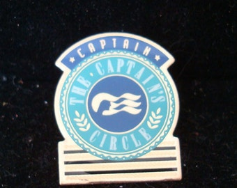 CAPTAIN'S CIRCLE  PIN,  7/8 X 1 1/16 inch. a Princess Cruise Line Give-away, see description -- perfect condition