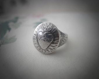 Sacred Heart ~ signet ring