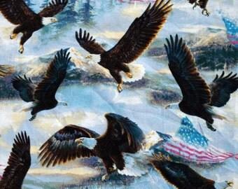 C173 - 110cmx100cm Cotton Fabric - Cartoon - eagles