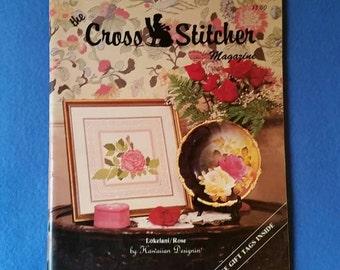Vintage The Cross Stitcher Magazine, December 1984 - January 1985, vintage cross stitch charts patterns