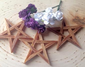 Palo santo, holy wood, wood pentagram for altar