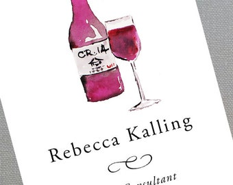 Wine,Sommelier,Wine Business Card - Set of 50