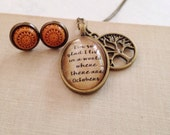 Anne of Green Gables. Octobers Quote Necklace. Literature Necklace. Vintage Style Necklace.