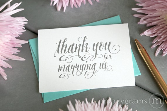 Wedding Card to Your OfficiantThank You for Marrying UsPriest ...