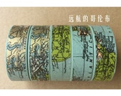 Farewell Columbus - Japanese Washi Masking Tape - 11 Yards