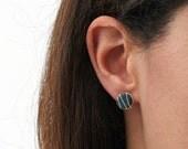 Grey Pebble Stud Earrings
