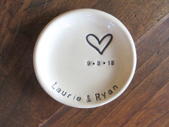 Ring Dish Wedding Ring Holder Engagement Gift MR By PromisePottery