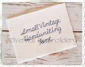 "Small Vintage Handwriting Machine Embroidery Font Monogram Alphabet - 1/2"" & 3/4"" Sizes"