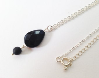 Agate Necklace - Black