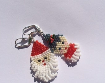 Mr. and Mrs. Claus earrings