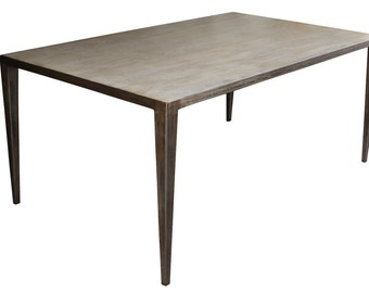 Edison Dining Table with White Oak Top