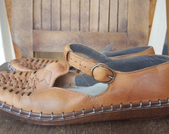 RIEKER     ///    Leather Woven Shoes