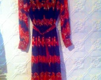 "Beautiful 1970s  ""Merco Davron"" label designer dress"