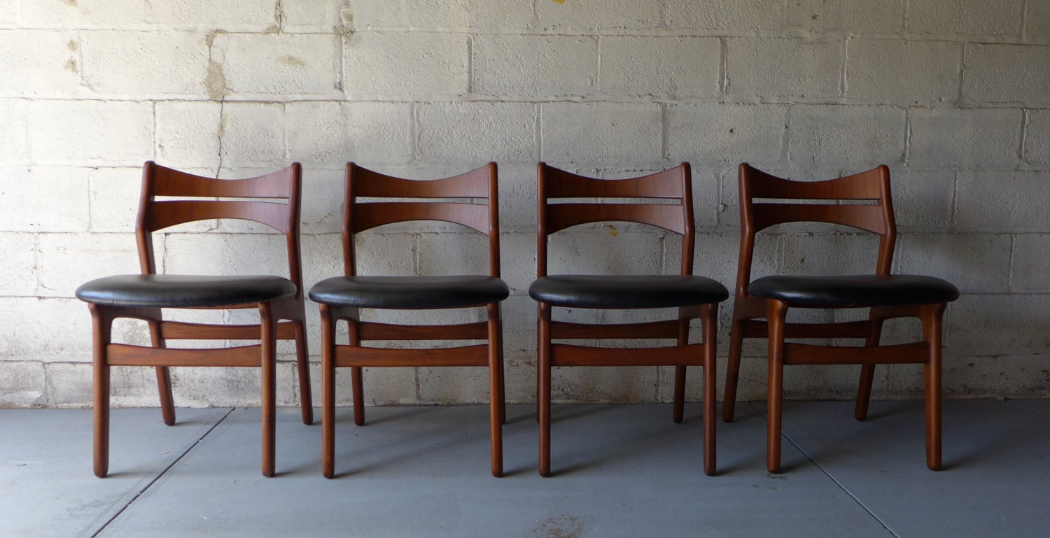 PERFECT Mid Century Modern Danish Teak DINING CHAIRS By