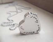 Cremation Urn Pendant Personalized Ashes Locket Cremains Vessel Heart In Memory of Remembrance Jewelry Includes Funnel