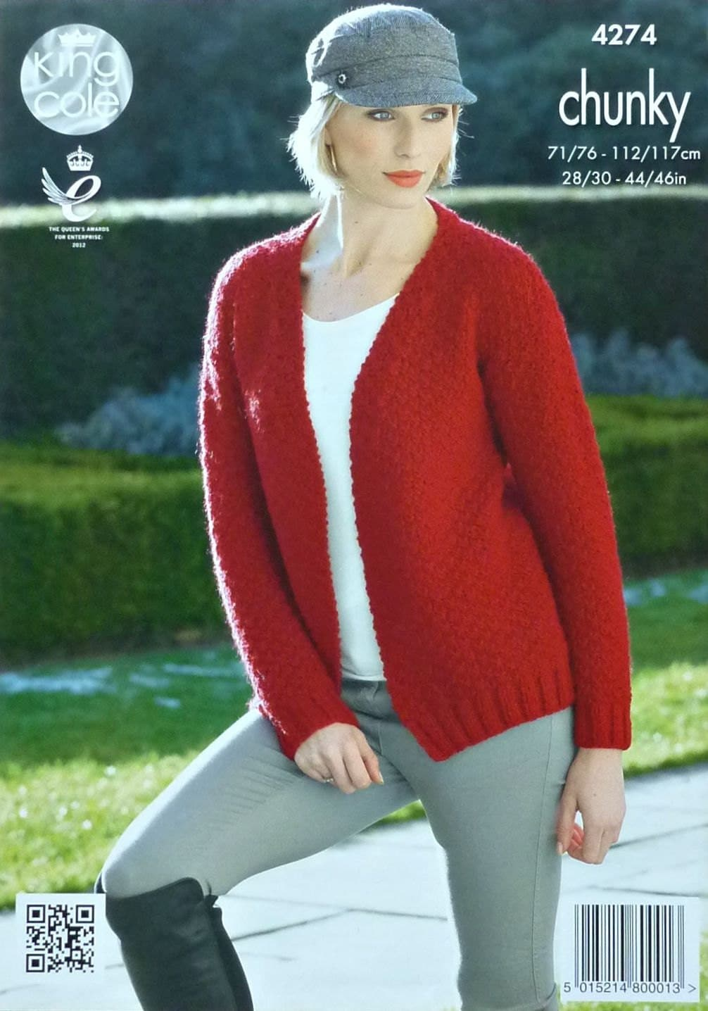 Womens Knitting Pattern K4274 Ladies Long Sleeve Moss Stitch Edge-to-Edge Car...